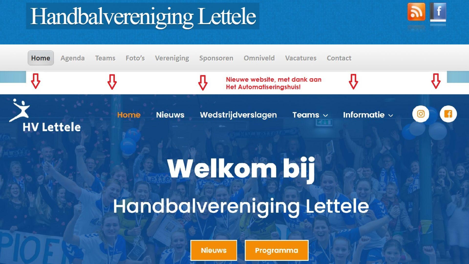 Oude-nieuwe website HV Lettele